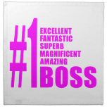 Pink Modern Bosses : Number One Boss Napkin