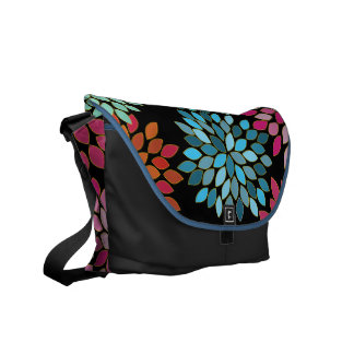 Pink Modern Chrysanthemum Commuter Bag