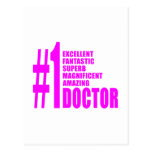 Pink Modern Doctors : Number One Doctor Postcards