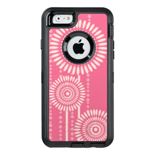 Pink Modern Floral Pattern OtterBox iPhone 6/6s Case