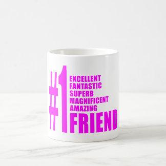 Pink Modern Friends : Number One Friend Mugs