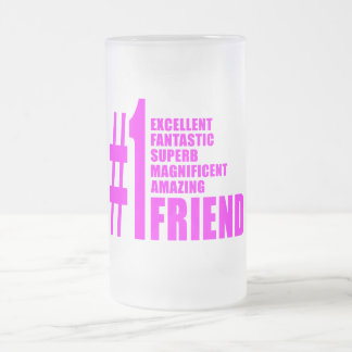 Pink Modern Friends : Number One Friend Coffee Mug