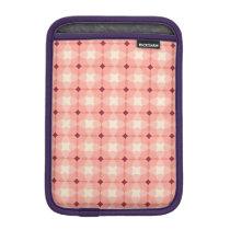 Pink modern fun checkers pattern iPad Mini Sleeve