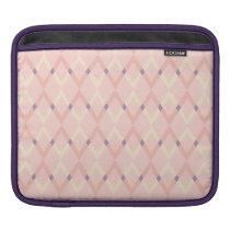 Pink modern fun checkers pattern iPad Sleeve
