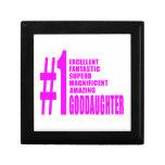 Pink Modern Goddaughters : Number One Goddaughter Keepsake Box