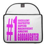 Pink Modern Goddaughters : Number One Goddaughter MacBook Pro Sleeve