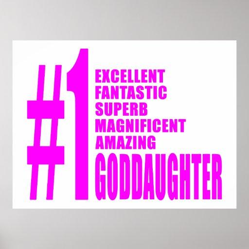 Pink Modern Goddaughters : Number One Goddaughter Poster