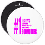 Pink Modern Godmothers : Number One Godmother Pins