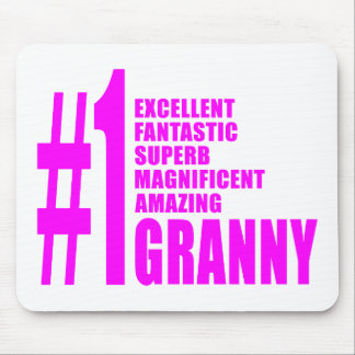 Pink Modern Grannies : Number One Granny Mousepad