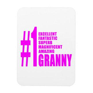 Pink Modern Grannies : Number One Granny Rectangular Magnet