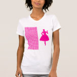 Pink Modern Houndstooth w/ Fashion Silhouette Tees