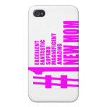 Pink Modern New Moms Number One New Mom iPhone 4/4S Case