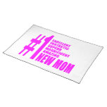 Pink Modern New Moms  Number One New Mom Placemat