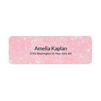 Pink Modern Plain Minimalist Professional Label