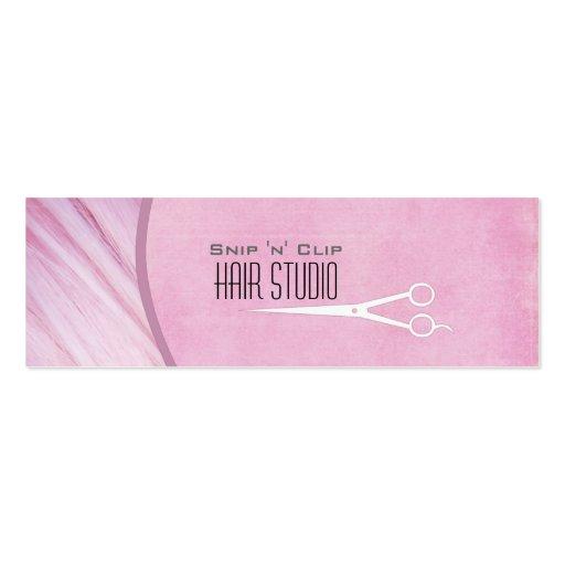 Pink Modern Stylist Salon Skinny Business Card