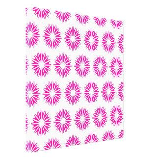 Pink Modern Sunbursts Gallery Wrap Canvas