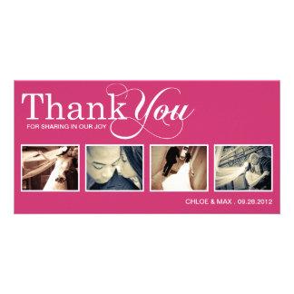 PINK MODERN THANKS | WEDDING THANK YOU CARD