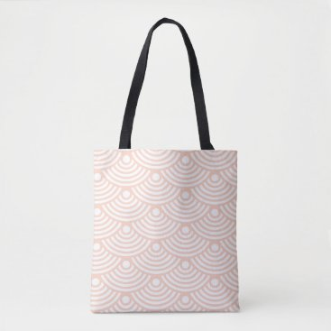 Beach Themed Pink Modern Waves Tote Bag