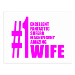 Pink Modern Wives : Number One Wife Postcard