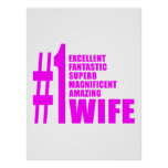 Pink Modern Wives : Number One Wife Posters