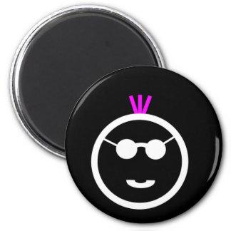 Pink Mohawk Fridge Magnet