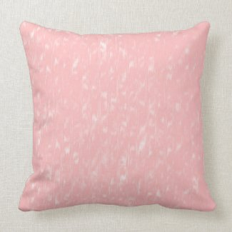 Pink Moire Pattern Cotton Throw Pillow 20x20