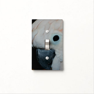 Pink Moluccan Cockatoo Parrot Face Animal Light Switch Cover