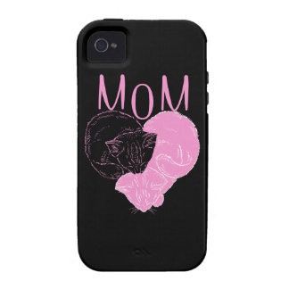 Pink MOM Heart Cats Case-Mate iPhone 4 Case