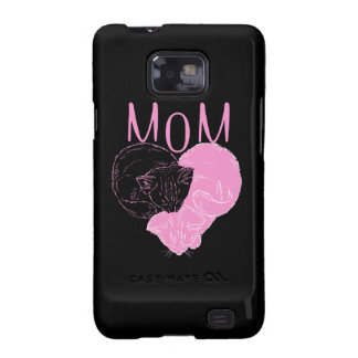 Pink MOM Heart Cats Galaxy S2 Case