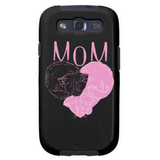 Pink MOM Heart Cats Galaxy S3 Case