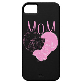 Pink MOM Heart Cats iPhone 5 Case