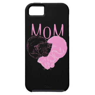 Pink MOM Heart Cats iPhone 5 Cover