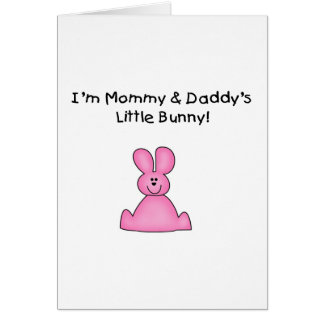 Pink Mommy and Daddy's Bunny T-shirts and Gifts Card