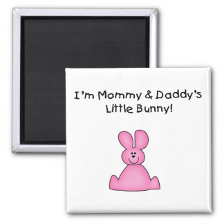 Pink Mommy and Daddy's Bunny T-shirts and Gifts Fridge Magnets