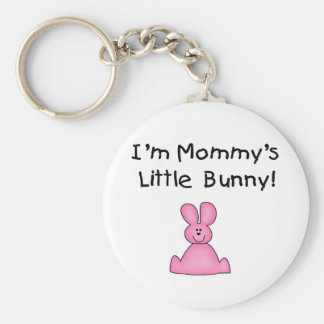 Pink Mommy's Little Bunny Tshirts and Gifts Key Chain