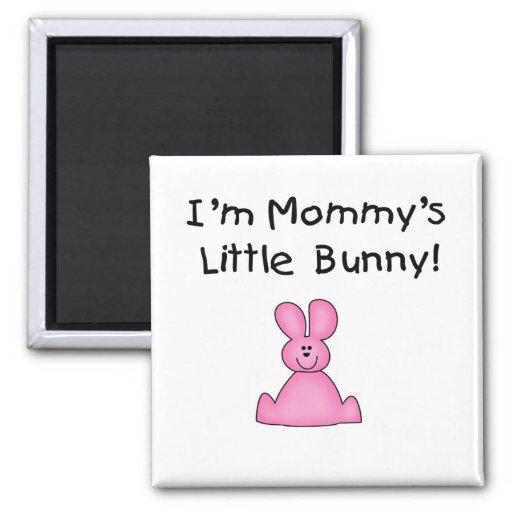 Pink Mommy's Little Bunny Tshirts and Gifts Fridge Magnets