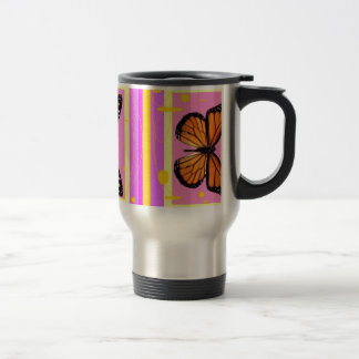 Pink Monarch Butterfly Gifts by Sharles Travel Mug