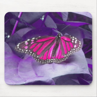 Pink Monarch Butterfly Mouse Pad