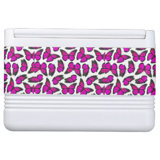 Pink Monarch Butterfly Pattern Igloo Drink Cooler