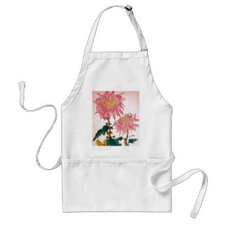 Pink Mondrian Floral Study Adult Apron