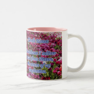 Pink Monet Nature Quote Coffee Mug Cup