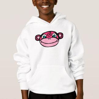 Pink Monkey Face Cute Hoodie