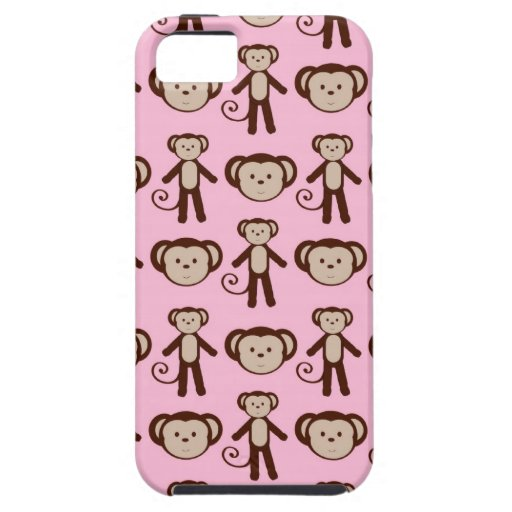 Pink Monkey iPhone 5 Cover / Case