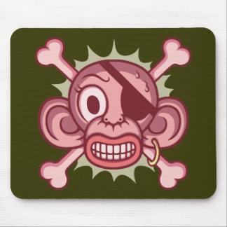 Pink Monkey Pirate Mouse Pad