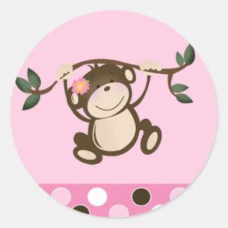 Pink Monkey Play Envelope Seals