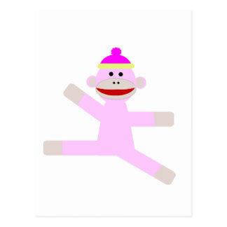 Pink Monkey Postcard