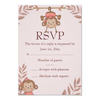 Pink Monkey RSVP Card