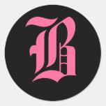 Pink Monogram B Stickers
