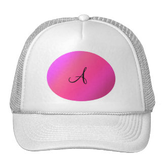 Pink monogram trucker hat