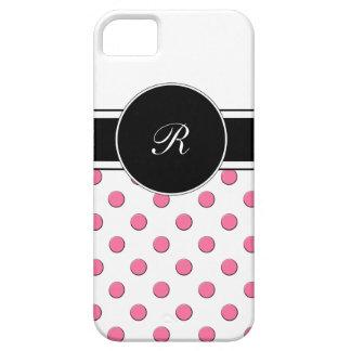Pink Monogram iPhone 5 Cases